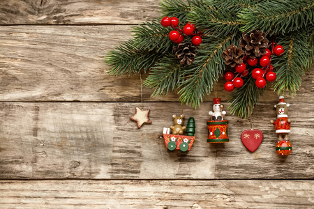 elegant christmas: Christmas ornaments Stock Photo