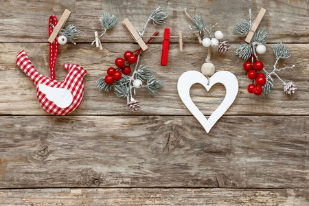 valentine card: christmas decorations