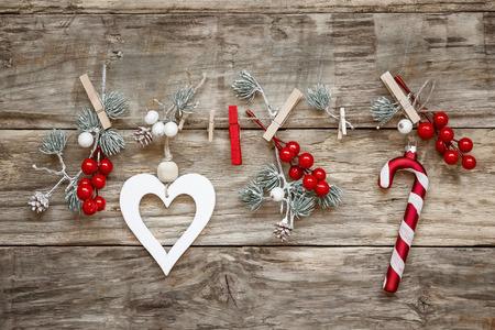 simbolos religiosos: decoraciones de Navidad Foto de archivo