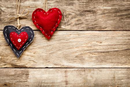 madera: día de tarjeta del corazón el amor de San Valentín