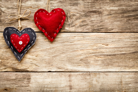 valentine's day love heart card Archivio Fotografico