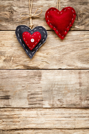 valentines day love heart card Stock Photo