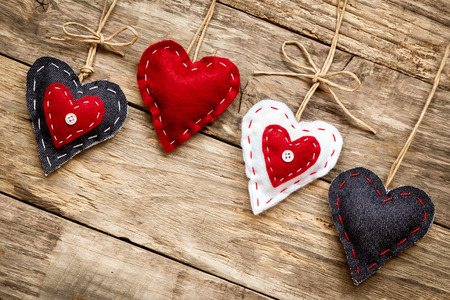 Valentijnsdag liefde hart kaart Stockfoto