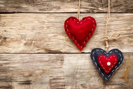valentine's day love heart card Standard-Bild