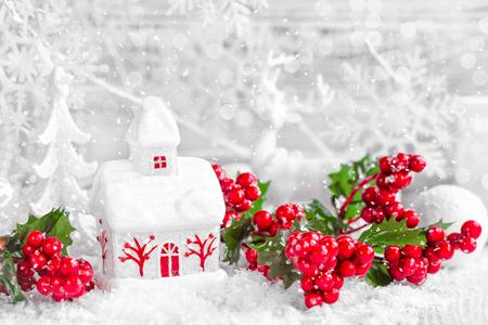 navidad elegante: decoración de navidad Foto de archivo