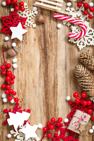 decorative frame: christmas background