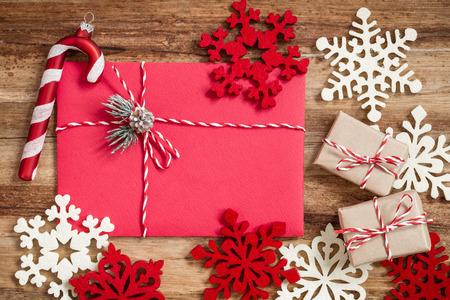 envelope decoration: christmas letter