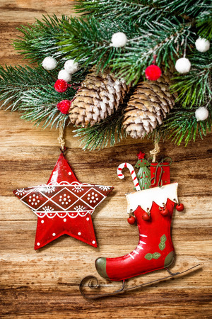 firs: christmas background