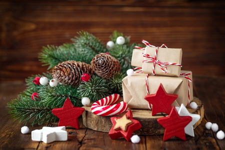 table decoration: christmas gifts