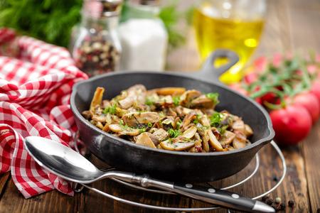 champignons frits