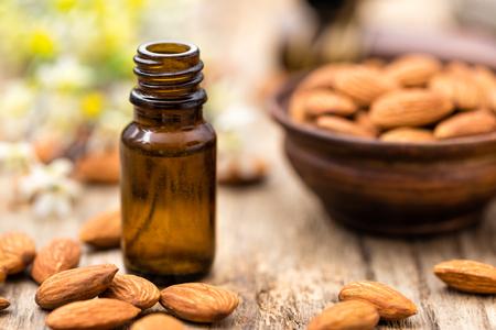 brown bottle: almond oil
