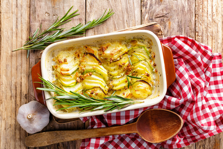 gourmet meal: potato gratin
