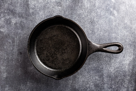 cast iron: cast iron pan on dark background