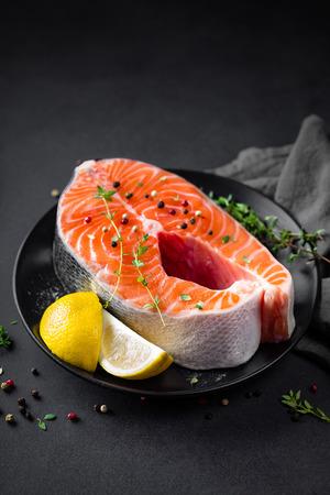 plato de comida: salmon