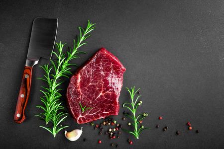 raw: raw beef steak Stock Photo