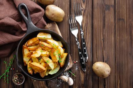 papas: patata al horno