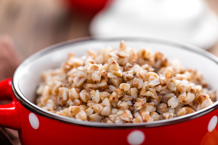 kasha: buckwheat porridge Stock Photo