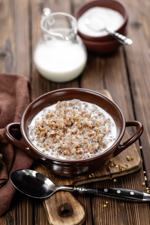 kasha: buckwheat porridge Stock Photo