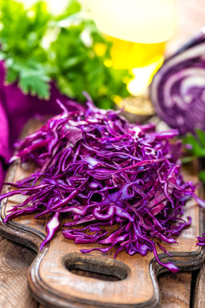 cabbages: red cabbage Stock Photo