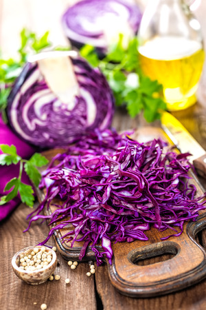 red cabbage: red cabbage Stock Photo