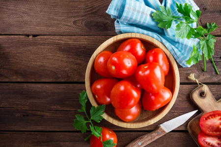 table top: tomatoes