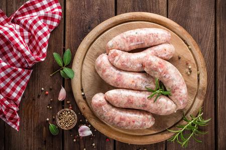 cooked sausage: sausages