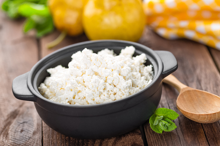 cottage cheese: cottage cheese Stock Photo