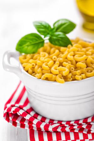 dinner menu: pasta Stock Photo