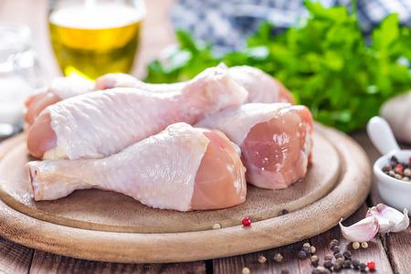 cuisses de poulet cru