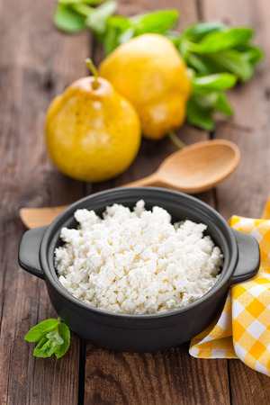 kefir: cottage cheese Stock Photo