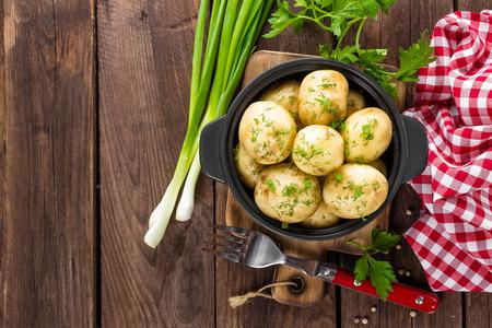 vegetarian food: new potato Stock Photo