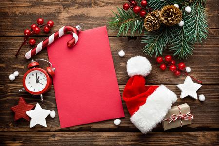 Christmas decoration, letter to Santa Claus Stockfoto