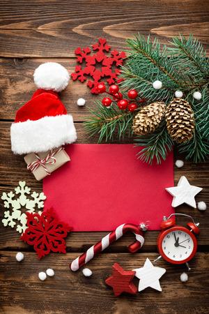Christmas decoration, letter to Santa Claus Foto de archivo
