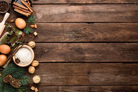 kulinarne: culinary background for Christmas baking Zdjęcie Seryjne