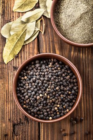 black: black pepper Stock Photo
