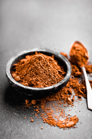 grinded: cocoa powder