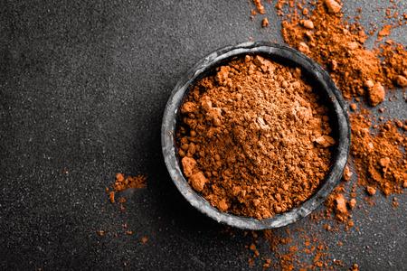 Cacao en polvo  Foto de archivo - 65325349