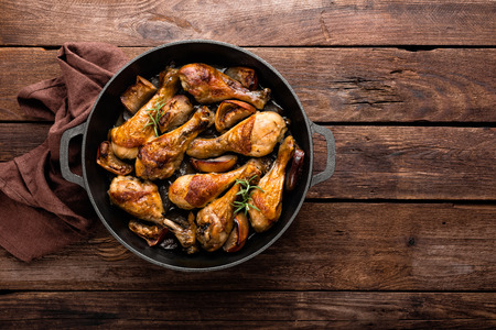 baked: chicken, drumsticks Stock Photo