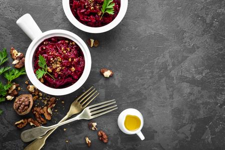 Beetroot salad Imagens