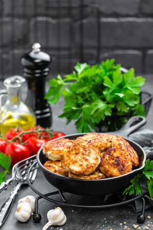 Chicken meat cutlets Stock Photo
