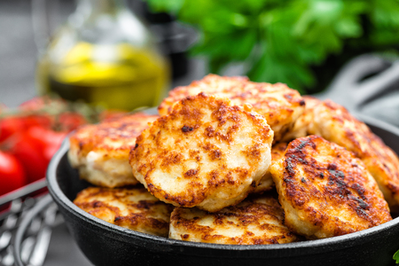 Chicken meat cutlets Banco de Imagens