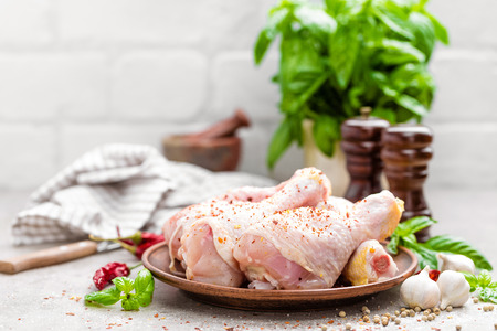 Raw chicken legs, drumsticks Stock Photo - 81923961