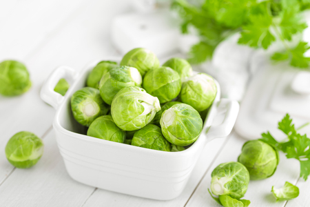Brussels sprouts Stockfoto