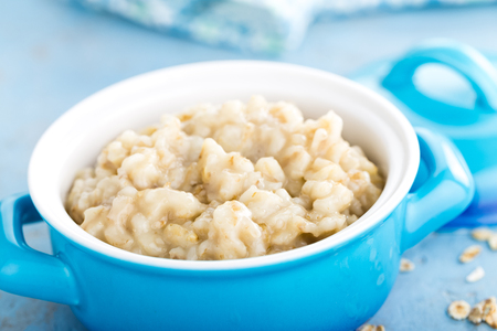 Oatmeal, oats porridge, healthy food