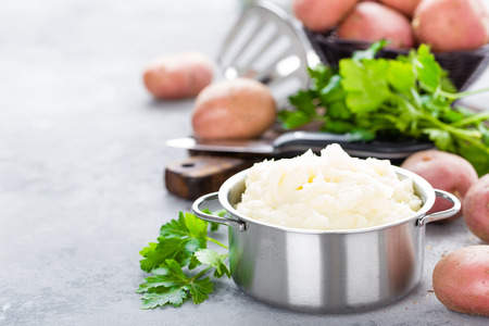 Mashed, mash potato with butter and milk. Potato puree Stock fotó