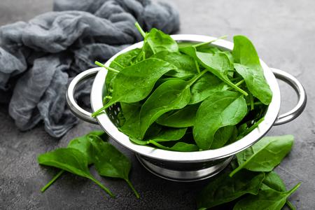 Spinach. Fresh spinach leaves Reklamní fotografie