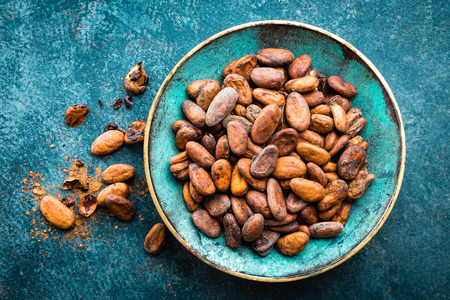Cocoa beans. Cocoa background