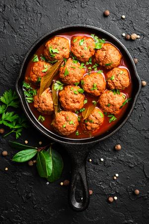 Beef meatballs in tomato sauce Foto de archivo