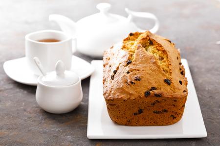 Fruit cake with raisin, fruitcake Standard-Bild