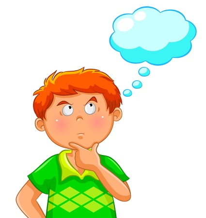 thinking boy Stock Vector - 14395477